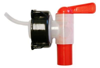 Plastkran 18 mm snabb med avluftning, 50 mm lock