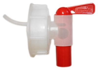 Plastkran 18 mm snabb med avluftning, 61 mm lock