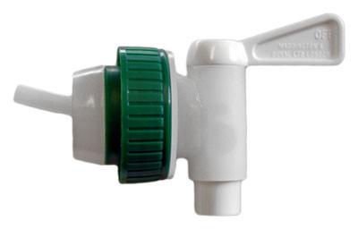 Plastkran 12 mm med avluftning, 40 mm lock