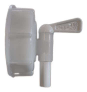 Serveringskran 8 mm vit lock