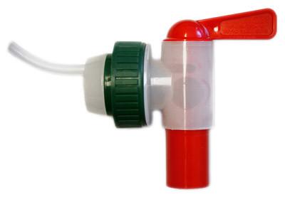 Plastkran 18 mm snabb med avluftning, 40 mm lock